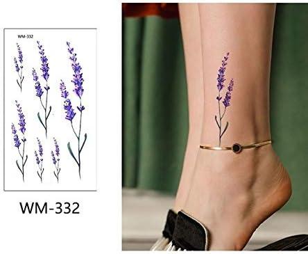 adgkitb 5 Piezas de Pegatinas de Tatuaje de Flores de Color ...