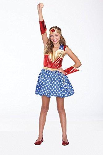 Halloween Wholesalers Wonder Girl Costume (12 -