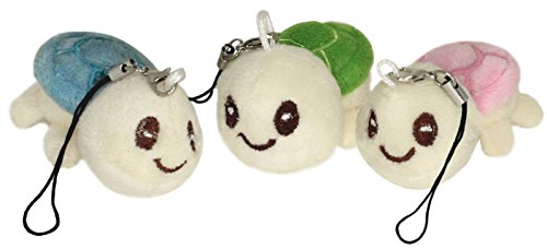 Lucore Happy Turtles Plush Lucky Charms- 3 Pcs Tortoise Stuffed Animal Keychains, Hanging Toy Doll Ornaments (Stuffed Miniature Toys)