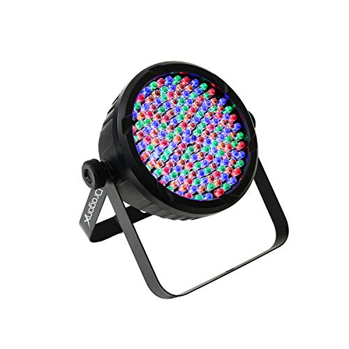 DragonX DJ Lighting – RGB LED Lights w/Amber & White RGBA – Slim LED 64 Par Can Wash Light 177 (10mm) Party Light for DJ Lighting, Uplighting, Wedding Lights, Event Lights, Stage Lights, DMX 512 ()