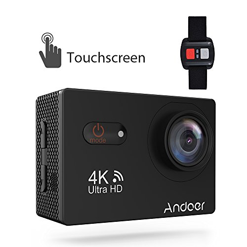 Sports Camera, Andoer 4K Touchscreen Action Camera 2inch LCD Wireless 16MP Ultra HD 170° Wide Angle Waterproof Sport Action Cam Camcorder with Sony Image Sensor Compatible with all video devices