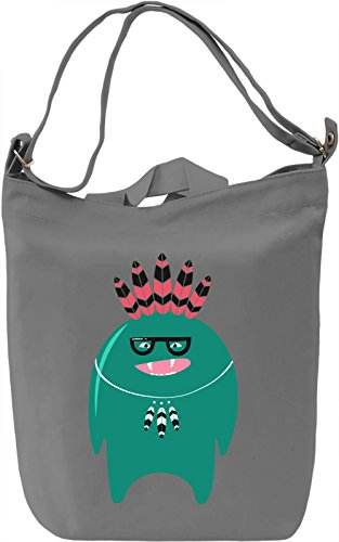 Indian monster Borsa Giornaliera Canvas Canvas Day Bag| 100% Premium Cotton Canvas| DTG Printing|