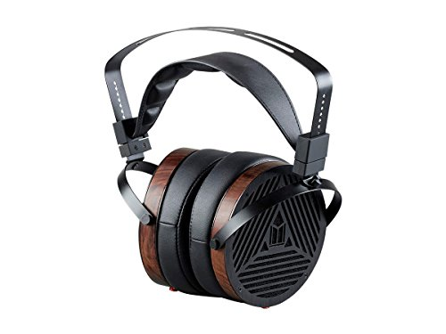 Monolith M1060 Over Ear Planar Magnetic Headphones - Black/Wood With 106mm Driver, Open Back Design, Comfort Ear Pads For Studio/Professional