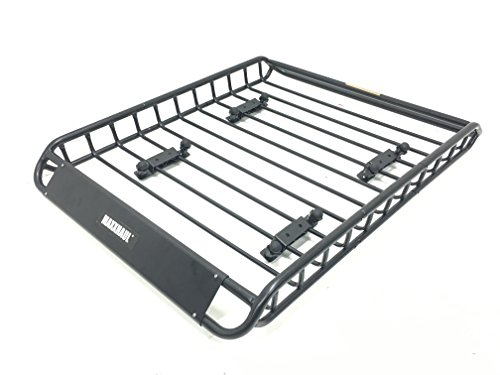 MaxxHaul 70115 Universal Steel Roof Rack Car Top Cargo Carrier / Basket - 46