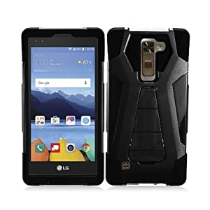 LG Stylo 2 Plus Case, IECUMIE A2 Armor Skin Protective Cover Case W/ Stand for LG G Stylo 2 Plus - Black (Package Include an IECUMIE Stylus Pen)