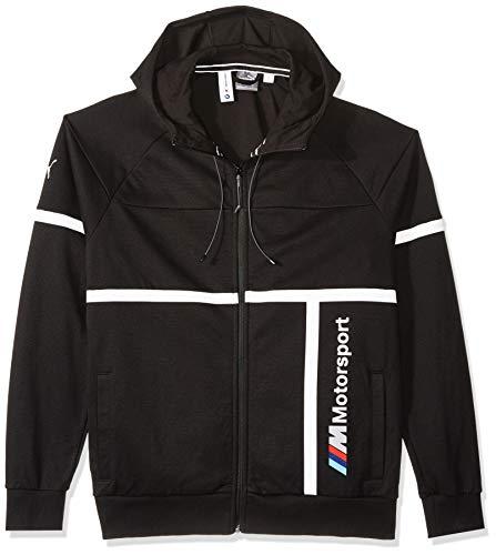 (PUMA Men's Standard BMW Motorsport Hooded Sweat Jacket, Black, M)