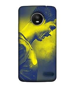 ColorKing Football Ronaldo Portugal 22 Multicolor shell case cover for Motorola Moto E4