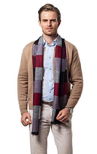 Runtlly Men's Fashion Super Soft Luxurious Cashmere Feel Winter Scarf