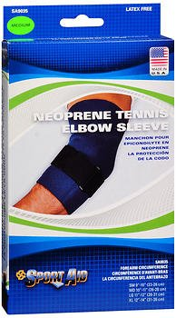 Sport Aid Neoprene Tennis Elbow Sleeve MD - 1 ea, Pack of 6