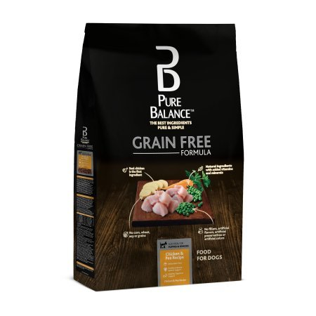 PACK OF 3 - Pure Balance Grain Free Chicken & Pea Recipe Food for Dogs 11lbs
