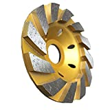 sansheng 4 Inch Concrete Turbo Diamond Grinding Cup Wheel 12 Segs Heavy Duty Angle Grinder Wheels for Angle