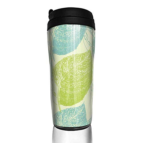 - coffee cups with lids Summer hand drawn leaf Wallpaper seamless pattern background 12 oz,coffee cup hooks for wall