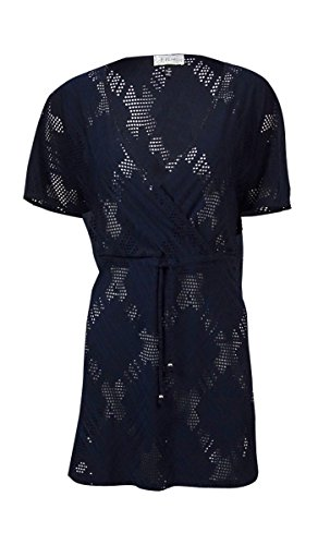 J. VALDI Women's X-Rated Lace Surplice Dress Cover Up, Navy, - Swimsuits Rated X