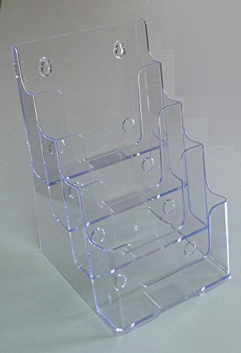 (FixtureDisplays 4 Tier Leaflet Holder Bi-fold 6