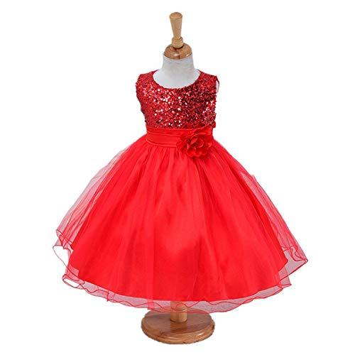 1-14 Yrs Teenage Girls Dress Wedding Party Princess Christmas Dress for Girl Party Kids Cotton Party Girls, 6]()