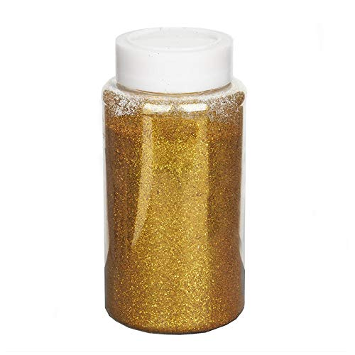 Tableclothsfactory 1 Pound Gold DIY Art & Craft Glitter Extra Fine with Shaker Bottle for Wedding Party Event Table Centerpieces Decor