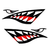 TravelPal Shark Teeth Mouth Decals Sticker Kayak Canoe Fishing Boat Graphics Car Truck Reflective Graphics Accessories