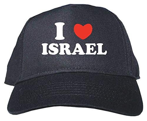 I Heart Love Israel Baseball Hat Cap Adjustable Black