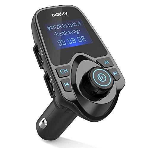 [Upgraded Version] Nulaxy Wireless In-Car Bluetooth FM Transmitter Radio...