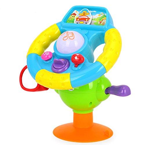 Slardar Musical Baby Driving Toys-Lights, Mirror, Various Dr
