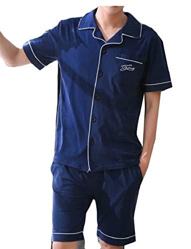 Corta 1 Verano Cómodos Hombres Los Pijamas Manga Dormir Baño Set 2 Homewear Tamaños De Piezas Ocio Cómoda Moda Ropa wq80xUX
