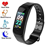 UWINMO Fitness Tracker with Blood Pressure, Heart Rate & Sleep Monitor, Slim Activity Tracker with Pedometer, Calorie Counter, Message Reminder, Waterproof Smart Bracelet for Kids Women and Men