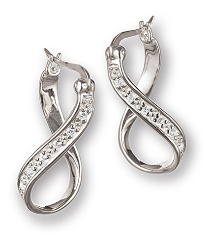 Authentic Chamilia Sterling Silver Infinity CZ Earrings 1311-0020