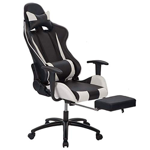 Managerial and Executive Office Chair Gaming Chair High-back Computer Chair Ergonomic Design Racing Chair w/Lay Flat ()