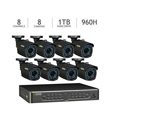Q-See 8 Channel 960H Security System with 1TB HDD and 8 900TVL Cameras Recording Resolution: 960 x 480