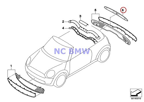 BMW Mini Genuine Trunk Lid Handle with Lamp Unit Hatch Grip (Chrome) Cooper S Coop.S BEV Coop.S JCW Cooper S Coop.S JCW Cooper S