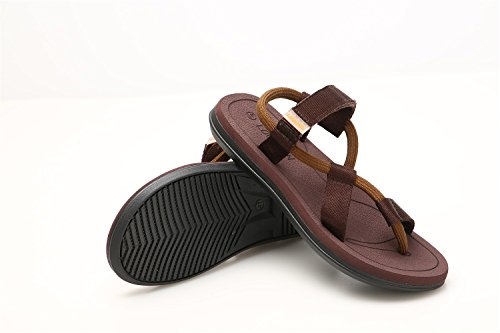 Pantoffeln Sandalen Atmungsaktive Strand Braun Beiläufige Schweißabsorbierenden Männer und Sandalen Trend ZHANGM Outdoor Hausschuhe Paar Schuhe Persönlichkeit Mode Frauen pvqpwRC