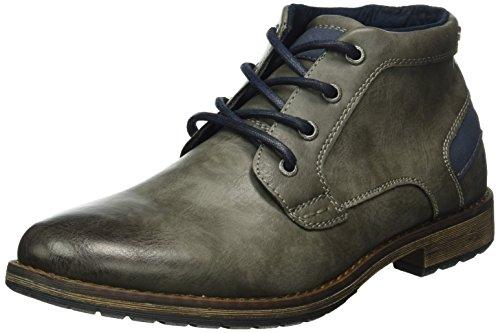 Tom Tailor 1681608, Zapatillas de Estar por Casa para Hombre Gris - Grau (coal)