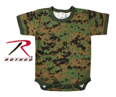Rothco Infant Camo One-piece Bodysuit in Woodland Digital
