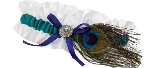 (Hortense B. Hewitt Wedding Accessories Peacock Feather Garter)