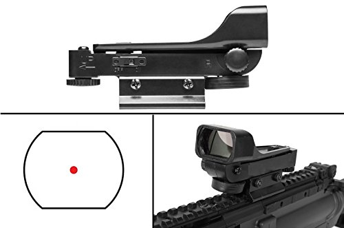 Ultimate Arms Gear Polymer Reticle Red Dot Open Tubeless Reflex Scope Sight Weaver-Picatinny & Dovetail Mount Adapter Rail, Black for Marlin .22 Caliber Rifle