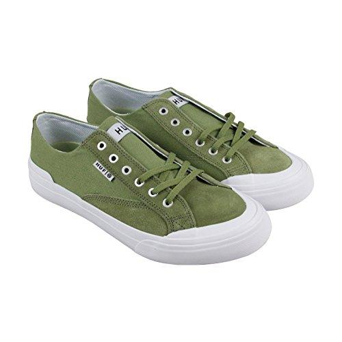 Huf Klassiek Lo Ess Heren Groene Suede / Canvas Veters Sneakers Schoenen
