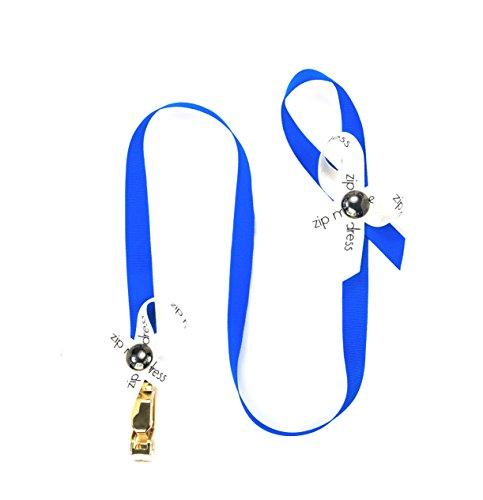 Zip My Dress Zipper Puller with Royal Blue Ribbon | Zipper Aid | Zipper Helper