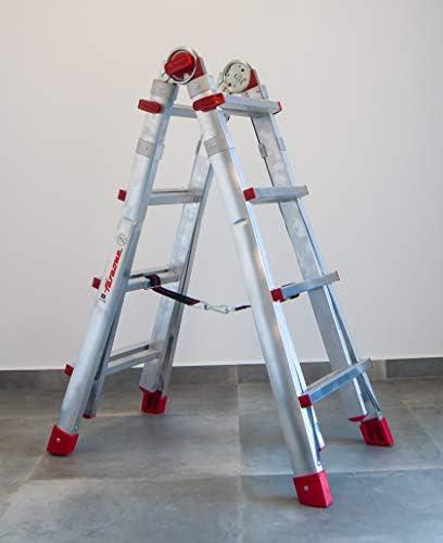 FARAONE TELES.T4 Escalera Telescópica Multiusos Súper Profesional, Metálico: Amazon.es: Bricolaje y herramientas