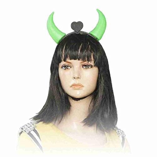 Magentoo(TM) Green Red LED Flashlight Devil Horns Headband for Halloween