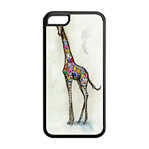 5C Protective Phone Case,Fashion Cute Giraffe Custom Hardshell Rubber iPhone Protection Cover Case for iPhone 5c Cases