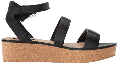 Women's Sandal Black Steve Wedge Kirsten Madden Leather q15zO5