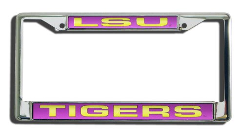 NCAA LSU Tigers Laser Cut Chrome Plate - Shop Rouge Baton Frame