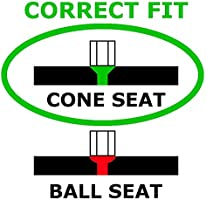 1//2-Inch 20 Thread Size Bulge Cone Seat Style Wheel Installation Kit for Jeep Wrangler McGard 84563BK Chrome//Black 23 Piece