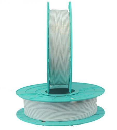 2.500 ft. Standard Paper / Plastic White Twist Tie Ribbons (10 Spools) - 03-2500-White