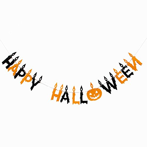 Cute Happy Halloween Pictures - Halloween Banner Pennant,Happy Halloween banner string,Halloween Decorations Wall Décor Bunting Garland Non-woven Felt Chain For Home/Garden Decorations /Wedding /Birthday Party Decorations