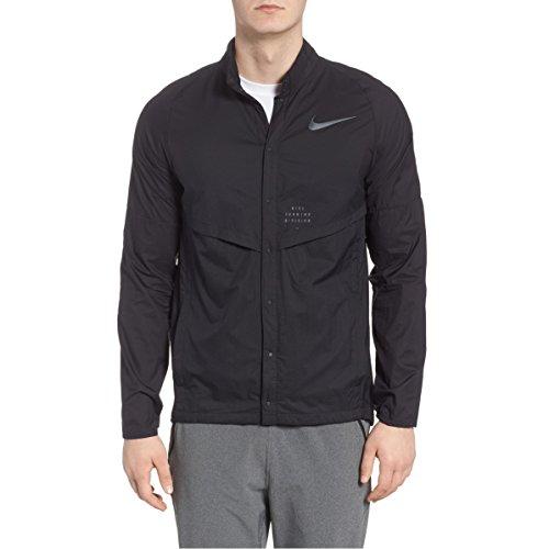 Nike Run Division Men's Running Jacket (Black, Large)