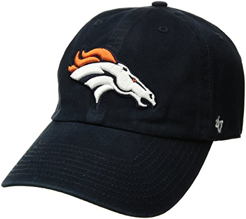'47 NFL Denver Broncos Clean Up Adjustable Hat, Navy, One Size Fits All Fits (Denver Broncos Mascot)