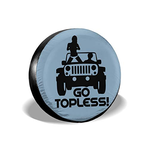 Kkidj Ooii Jeep Go Topless Universal Spare Tire Cover Dust-Proof 14