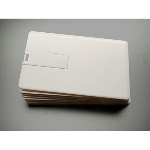 10 4GB Flash Drive - Bulk Pack - 4 GB USB 2.0 Credit Card Design in White