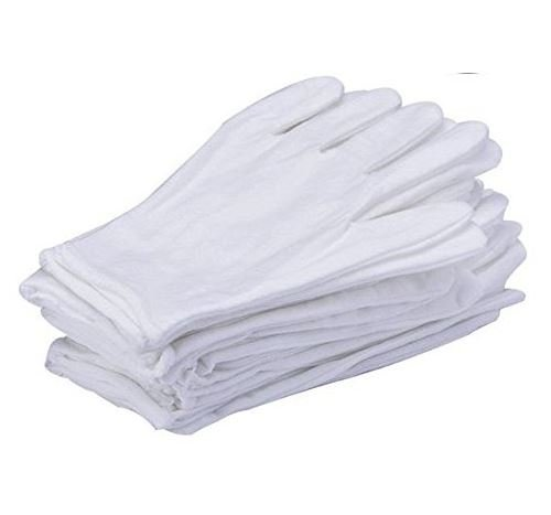 6 Pairs White Cotton Gloves Large Size For Coin Jewelry Silver Inspection By Lucky Sld